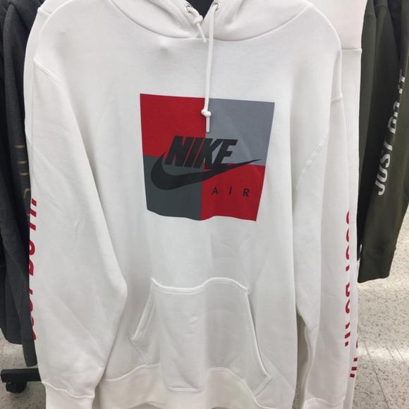 Nice Nike Sweaters | Box Logo Hoodie Sweater Mens Red White Black | Poshmark